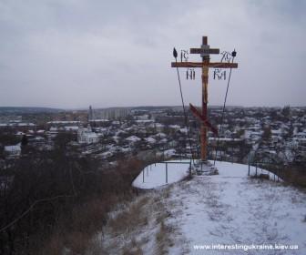 Вид на Васильков с древнерусского городища