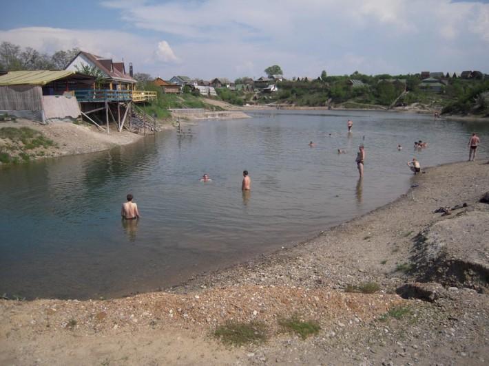Солёные озёра в Солотвино