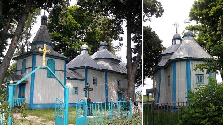 Деревянная церковь - достопримечательность с. Каменный Брод
