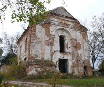 Руины костёла в с. Топоры