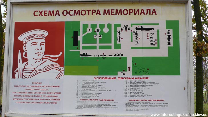 План экспозиции 411-й батареи