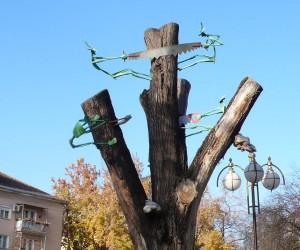 Одна из инсталляций на ул. Свободы