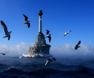 Достопримечательности Севастополя. памятник затопленным кораблям