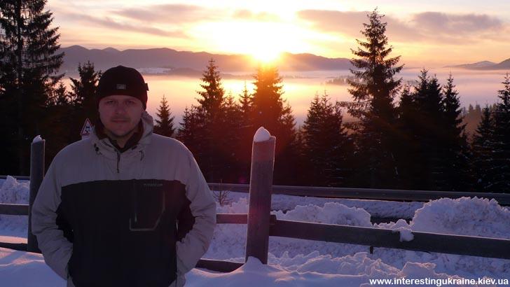 Зимний рассвет в Карпатах