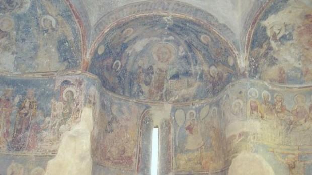 Фрески XIV века в Горянской ротонде