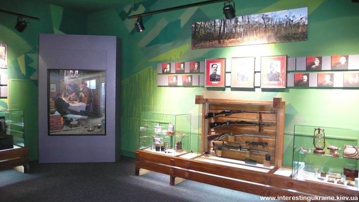 Музей партизанской славы. Экспозиция в одном из залов