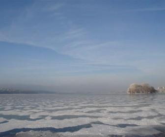 Тернопольское озеро зимой