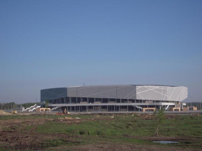 Стадион во Львове. Подготовка к ЕВРО 2012 близится к концу