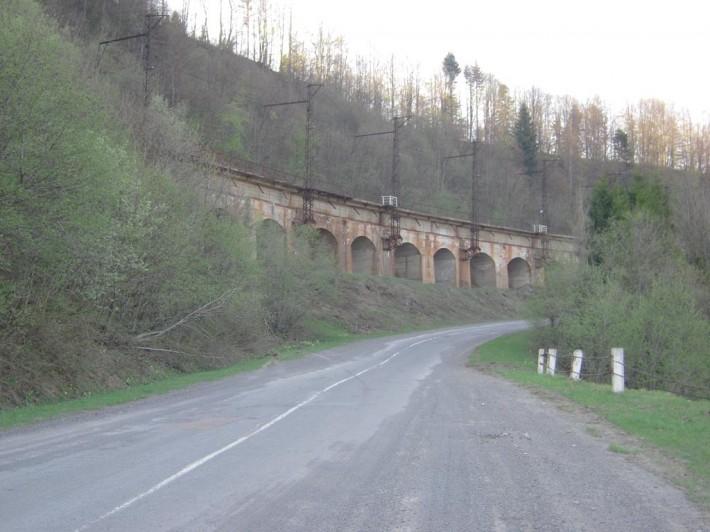 Железная дорога на Ужокском перевале