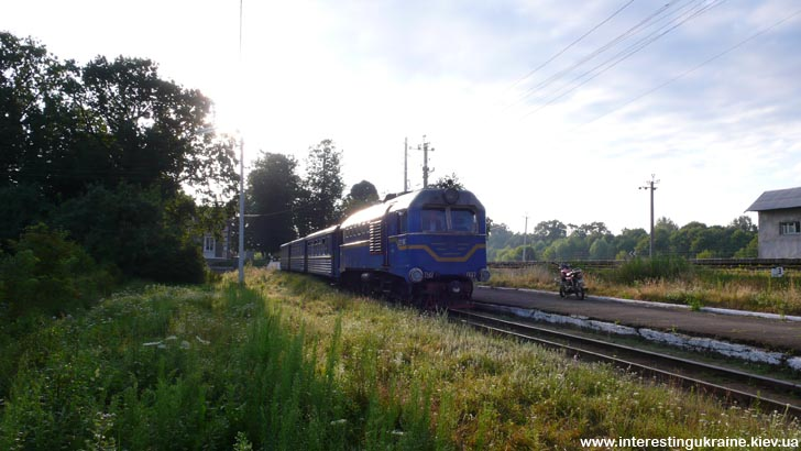 Узкоколейный поезд в Антоновке