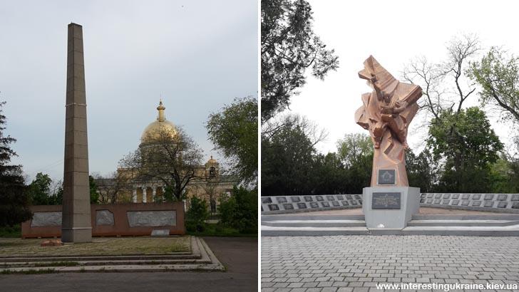 Памятники советским воинам в Болграде