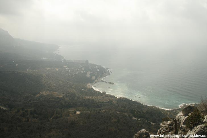 Вид на море с Ласпинского перевала