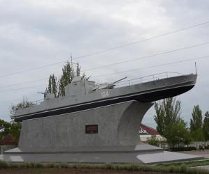 Бронекатер Дунайской флотилии - достопримечательность г. Измаил