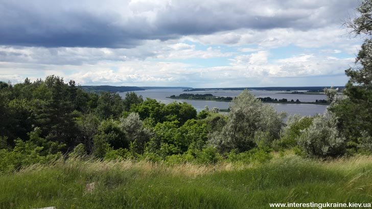 Панорама Днепра с Иван-горы, г. Ржищев
