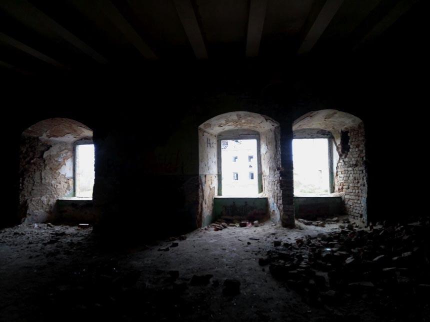 Клеванский замок. Вид изнутри