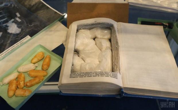 Образцы тайников для перевозки наркотических веществ - экспонат киевского музей МВД Украины
