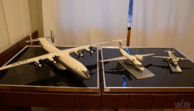 Модели самолетов в кабинете-музее генерального авиаконструктора Антонова